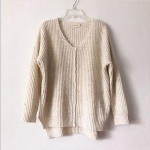 Dreamers Boho Knit Confetti Oversized Cozy Sweater